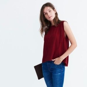Madewell Overture Swing Tank Top Red